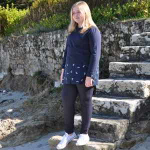 Jegging marine, mode Grande Taille fille, pour les 8/16 ans