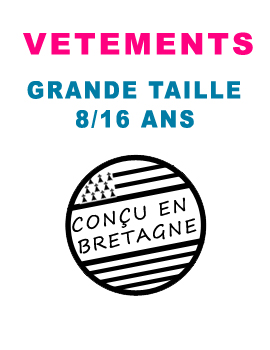 vetement grande taille 8/16 ans