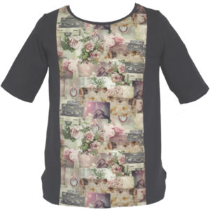 "T-shirt grande taille fille ""Romantic Paris"""